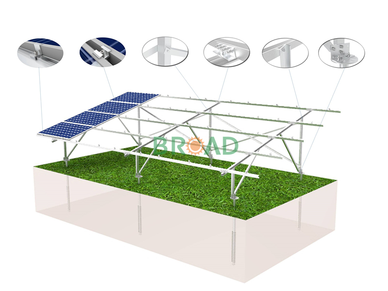 Hot-dip galvanized steel solar mount